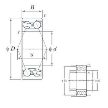 105 mm x 190 mm x 65.1 mm  105 mm x 190 mm x 65.1 mm  KOYO 3221 angular contact ball bearings