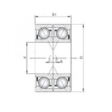 ISO 7040 CDF angular contact ball bearings