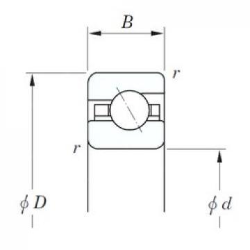 165,1 mm x 190,5 mm x 12,7 mm  165,1 mm x 190,5 mm x 12,7 mm  KOYO KDA065 angular contact ball bearings