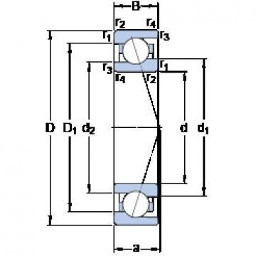 90 mm x 125 mm x 18 mm  90 mm x 125 mm x 18 mm  SKF 71918 ACE/P4A angular contact ball bearings