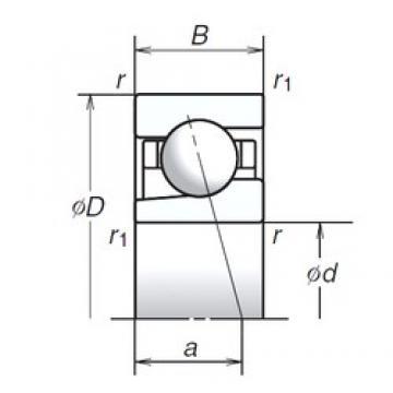12 mm x 32 mm x 10 mm  12 mm x 32 mm x 10 mm  NSK 12BGR02S angular contact ball bearings