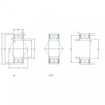 50 mm x 90 mm x 30,2 mm  50 mm x 90 mm x 30,2 mm  SKF E2.3210A-2Z angular contact ball bearings