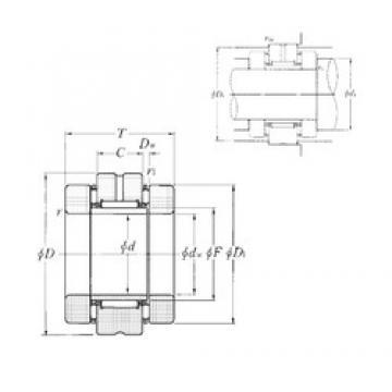 NTN AXN2557 complex bearings