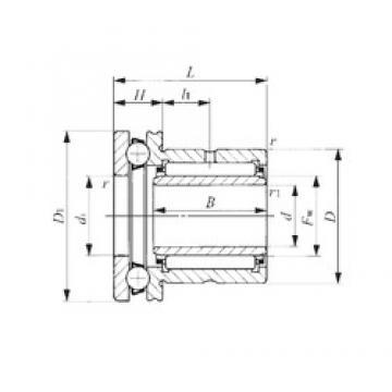 45 mm x 62 mm x 25 mm  45 mm x 62 mm x 25 mm  IKO NAXI 4535 complex bearings