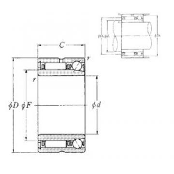 70 mm x 100 mm x 40 mm  70 mm x 100 mm x 40 mm  NTN NKIA5914 complex bearings