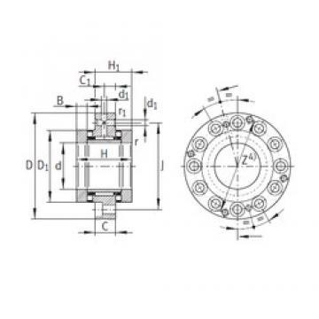 90 mm x 210 mm x 22,5 mm  90 mm x 210 mm x 22,5 mm  INA ZARF90210-TV complex bearings