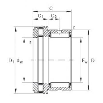 INA NKXR35 complex bearings