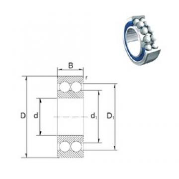 35 mm x 80 mm x 34,9 mm  35 mm x 80 mm x 34,9 mm  ZEN S5307-2RS angular contact ball bearings