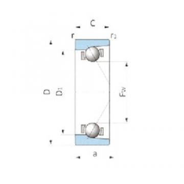 IJK ASA3044 angular contact ball bearings