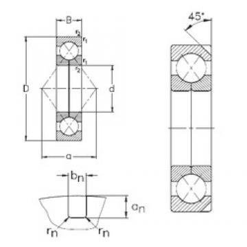 180 mm x 380 mm x 75 mm  180 mm x 380 mm x 75 mm  NKE QJ336-N2-MPA angular contact ball bearings