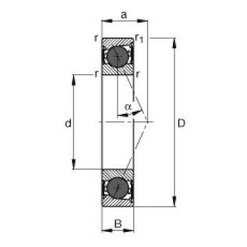 20 mm x 37 mm x 9 mm  20 mm x 37 mm x 9 mm  FAG HCB71904-E-2RSD-T-P4S angular contact ball bearings