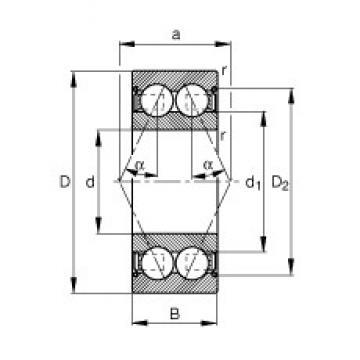 12 mm x 28 mm x 12 mm  12 mm x 28 mm x 12 mm  FAG 3001-B-2Z-TVH angular contact ball bearings