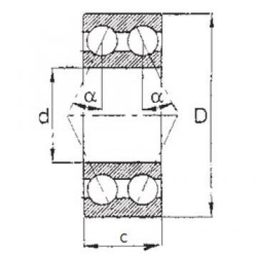 12 mm x 32 mm x 15,875 mm  12 mm x 32 mm x 15,875 mm  FBJ 5201 angular contact ball bearings