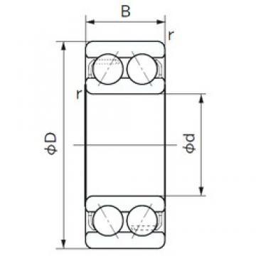 30 mm x 62 mm x 23.8 mm  30 mm x 62 mm x 23.8 mm  NACHI 5206A angular contact ball bearings