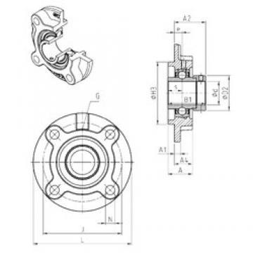 SNR EXFC204 bearing units