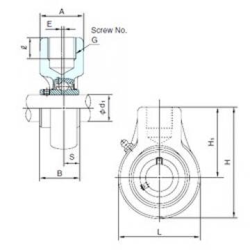 NACHI UCECH208 bearing units