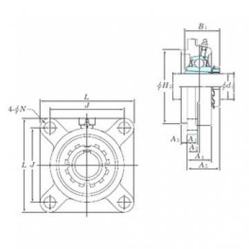 KOYO UKFS309 bearing units