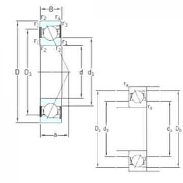 75 mm x 130 mm x 25 mm  75 mm x 130 mm x 25 mm  SKF SS7215 CD/P4A angular contact ball bearings