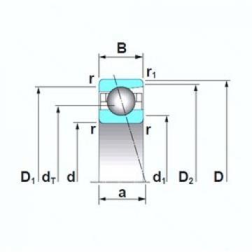 12 mm x 28 mm x 8 mm  NTN 6001  Angular Contact Ball Bearings