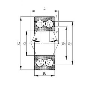 17 mm x 47 mm x 14 mm  NTN 6303 Angular Contact Ball Bearings