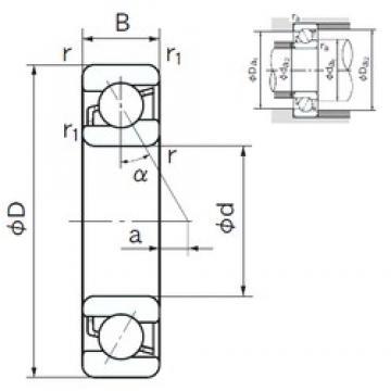 25 mm x 62 mm x 17 mm  25 mm x 62 mm x 17 mm  NACHI 7305 angular contact ball bearings