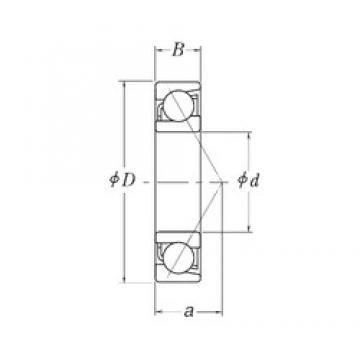 28,575 mm x 63,5 mm x 15,875 mm  28,575 mm x 63,5 mm x 15,875 mm  RHP LJT1.1/8 angular contact ball bearings