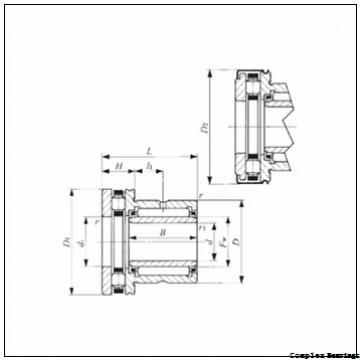 22 mm x 39 mm x 23 mm  22 mm x 39 mm x 23 mm  ISO NKIA 59/22 complex bearings