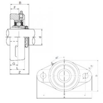 25 mm x 80 mm x 38 mm  25 mm x 80 mm x 38 mm  ISO UKFL206 bearing units