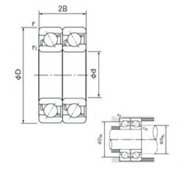 40 mm x 90 mm x 23 mm  40 mm x 90 mm x 23 mm  NACHI 7308CDT angular contact ball bearings