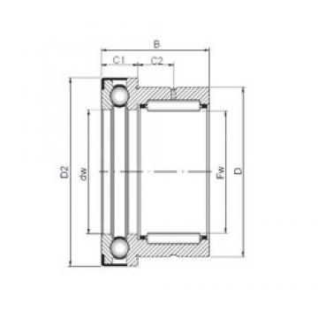 12 mm x 21 mm x 23 mm  12 mm x 21 mm x 23 mm  ISO NKX 12 Z complex bearings
