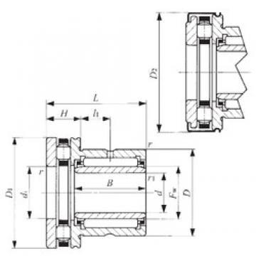 40 mm x 58 mm x 20 mm  40 mm x 58 mm x 20 mm  IKO NBXI 4032Z complex bearings