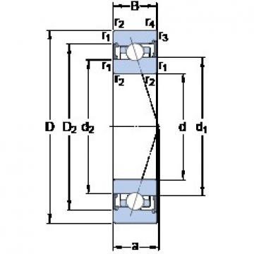 75 mm x 115 mm x 20 mm  75 mm x 115 mm x 20 mm  SKF S7015 CB/HCP4A angular contact ball bearings