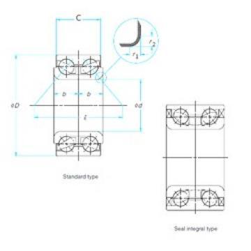 38 mm x 72 mm x 34 mm  38 mm x 72 mm x 34 mm  FAG FW925 angular contact ball bearings