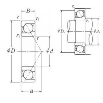 35 mm x 55 mm x 10 mm  35 mm x 55 mm x 10 mm  NSK 7907 A5 angular contact ball bearings