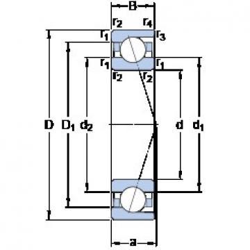 55 mm x 100 mm x 21 mm  55 mm x 100 mm x 21 mm  SKF 7211 ACD/HCP4A angular contact ball bearings