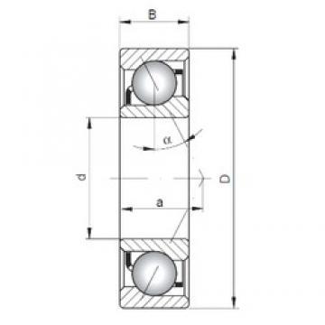 105 mm x 225 mm x 49 mm  105 mm x 225 mm x 49 mm  ISO 7321 B angular contact ball bearings