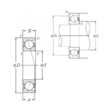 20 mm x 52 mm x 15 mm  20 mm x 52 mm x 15 mm  NTN 7304B angular contact ball bearings