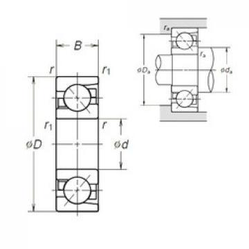 45 mm x 100 mm x 25 mm  45 mm x 100 mm x 25 mm  NSK 7309BEA angular contact ball bearings