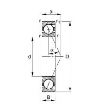 12 mm x 28 mm x 8 mm  12 mm x 28 mm x 8 mm  FAG B7001-E-T-P4S angular contact ball bearings