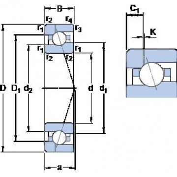 85 mm x 130 mm x 22 mm  85 mm x 130 mm x 22 mm  SKF 7017 ACE/P4AH1 angular contact ball bearings