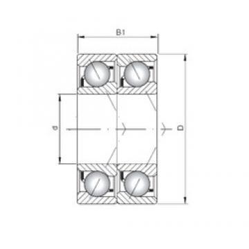 ISO 7030 ADT angular contact ball bearings