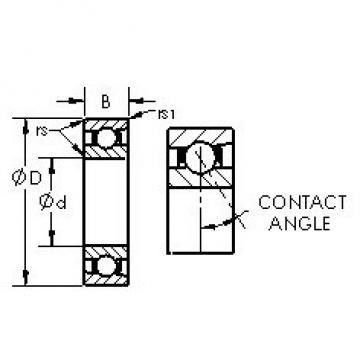AST 7034AC angular contact ball bearings
